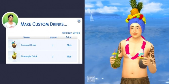 Sims 4 Tropical Drinks by ohmysims at Mod The Sims