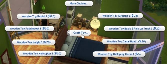 Sims 4 Woodwork Custom Furniture N Toys Menus by Leniad at Mod The Sims