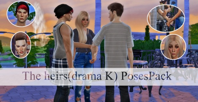 Inspired (K drama) The heirs PosesPack at Simsnema image 864 670x347 Sims 4 Updates
