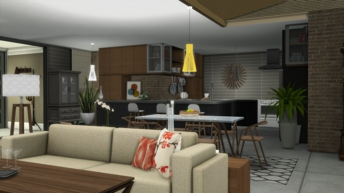 Sims 4 Mid Century Breeze house by TVRdesigns at TSR