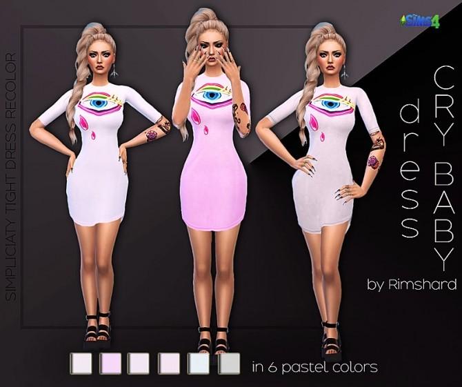 Sims 4 Cry baby dresses at Rimshard Shop