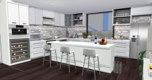 Sims 4 Modern Kitchen at AymiasSims
