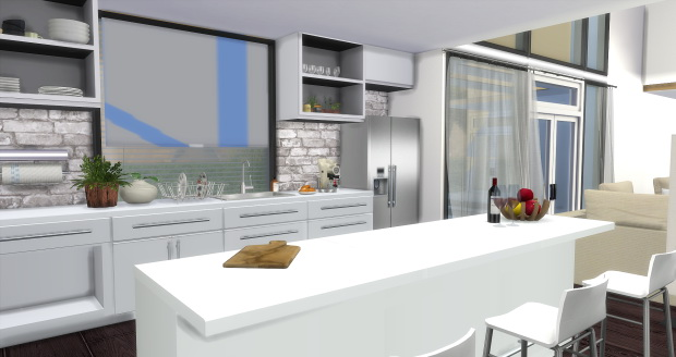 Modern kitchen at aymiassims sims 4 updates for Modern kitchen updates