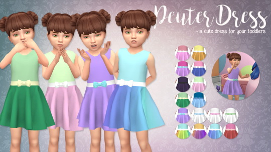 Peuter dress for toddlers by xEenhoornx at SimsWorkshop image 889 Sims 4 Updates