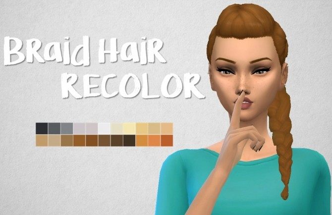 Braided hair recolor at Choco Sims image 911 670x434 Sims 4 Updates