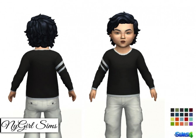 Striped Arm Layered Tee at NyGirl Sims image 9112 670x473 Sims 4 Updates