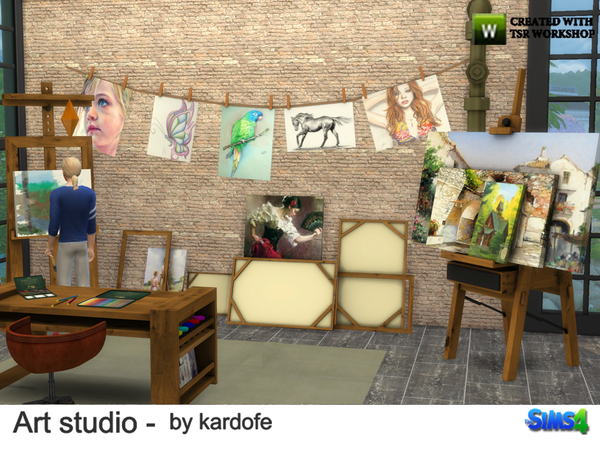 Art studio by kardofe at TSR image 914 Sims 4 Updates