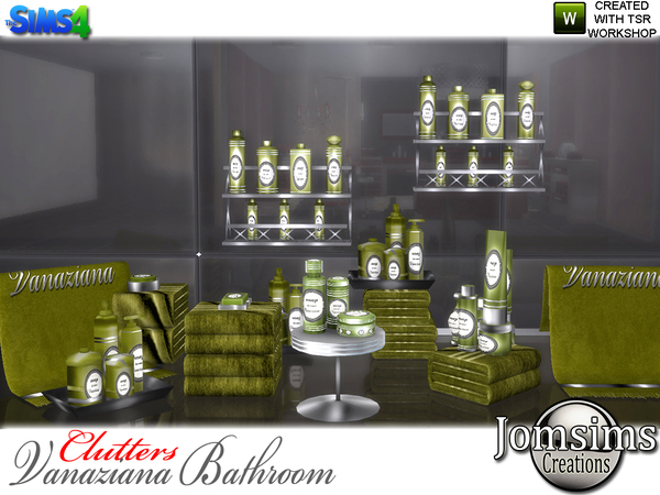 Vanaziana bathroom clutters by jomsims at TSR image 916 Sims 4 Updates