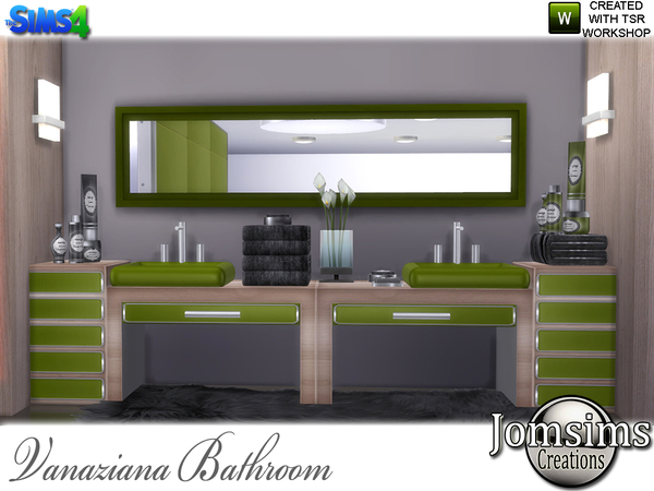 Vanaziana bathroom by jomsims at TSR image 917 Sims 4 Updates