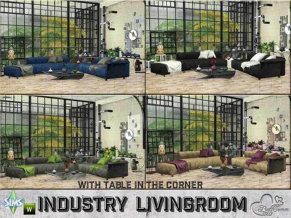 Industry livingroom by BuffSumm at TSR image 92 Sims 4 Updates