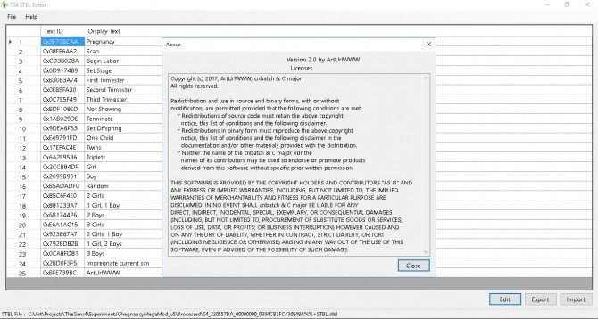 Sims 4 TS4 STBL Editor Version 14.0 by ArtUrlWWW
