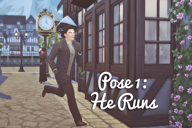 Running into Each Other Pose Set at Historical Sims Life image 931 Sims 4 Updates