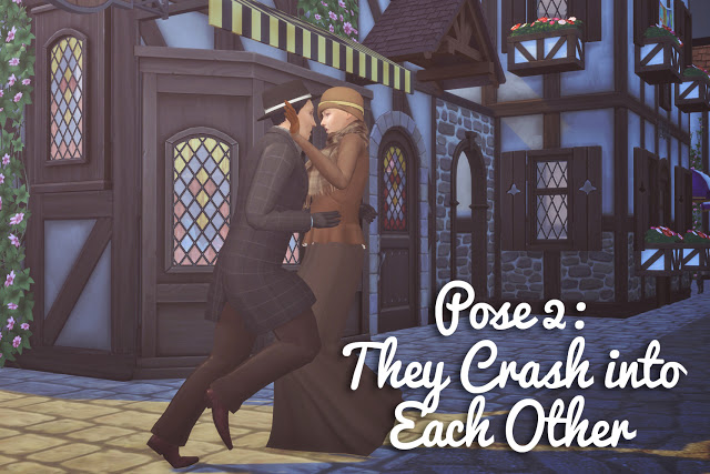 Running into Each Other Pose Set at Historical Sims Life image 951 Sims 4 Updates