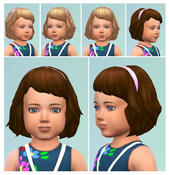 Outstanding Toddler Hair With Band At Birksches Sims Blog Sims 4 Updates Hairstyles For Women Draintrainus
