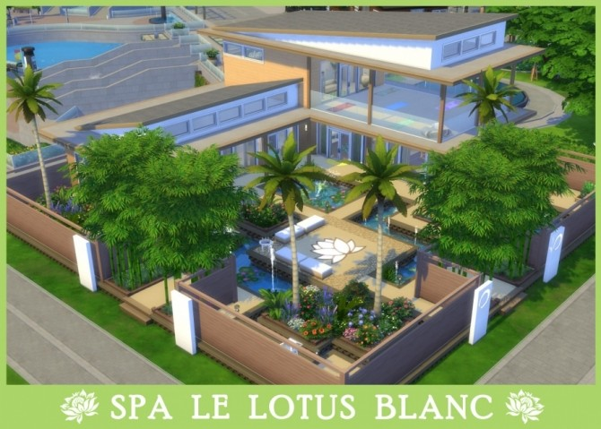Le lotus blanc Spa by Pyrénéa at Sims Artists image 958 670x479 Sims 4 Updates