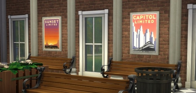 Sims 4 Amtrak Flagship Route Posters by eastwind580 at Mod The Sims