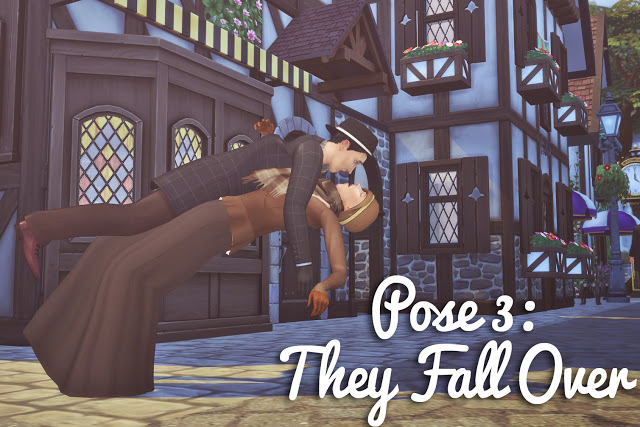 Running into Each Other Pose Set at Historical Sims Life image 961 Sims 4 Updates