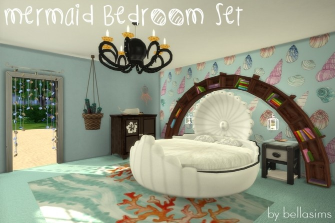 Mermaid Bedroom Set At Bellassims Sims 4 Updates