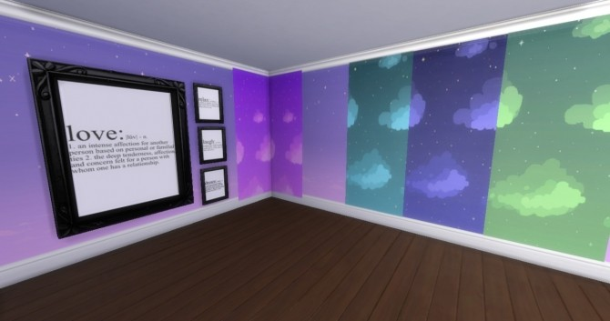 Sims 4 Define Frames Sky Dream Walls at Rvaiiyne