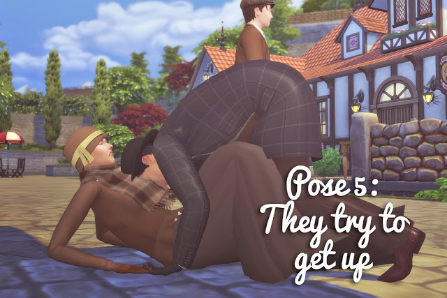 Running into Each Other Pose Set at Historical Sims Life image 981 Sims 4 Updates