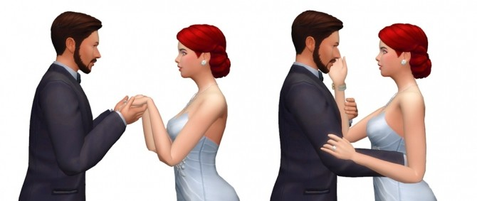 Sims 4 Couple Poses #09 at Rinvalee