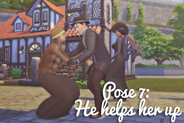 Running into Each Other Pose Set at Historical Sims Life image 991 Sims 4 Updates