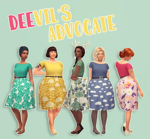 Sims 4 DEEvil's Advocate dress at Hamburger Cakes