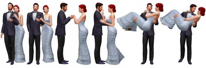 Couple Poses #09 at Rinvalee image 994 670x224 Sims 4 Updates
