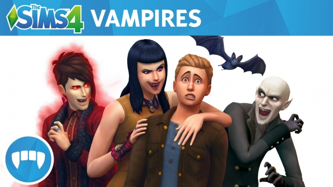 The Sims 4 Expansion & Stuff Packs list image The Sims 4 Vampires big Sims 4 Updates