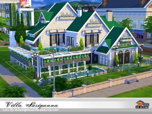 Sims 4 Villa Sasipanna by autaki at TSR