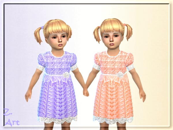 Sims 4 BabeZ. 07 little princess dress by Zuckerschnute20 at TSR