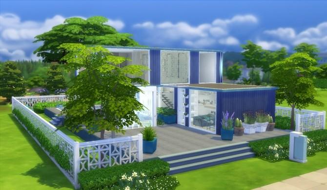 Sims 4 Two containers house by patty3060 at Mod The Sims