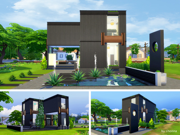 Onyx house by Lhonna at TSR image 1040 Sims 4 Updates
