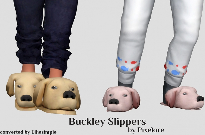 Buckley Slippers At Elliesimple 187 Sims 4 Updates