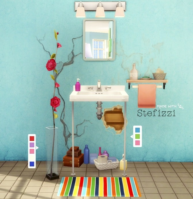 Sims 4 SINK AND PLANT at Stefizzi