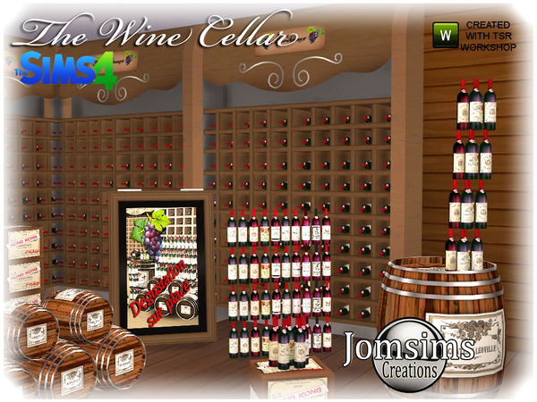 The wine cellar by  jomsims at TSR image 11103 Sims 4 Updates