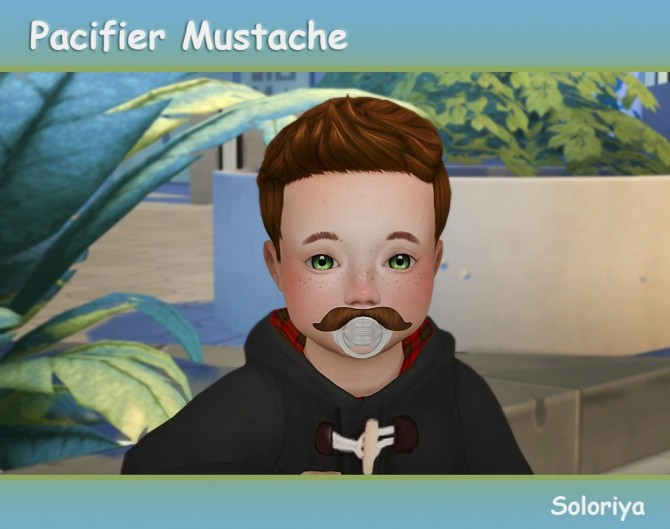 Pacifier Mustache for toddlers at Soloriya image 11211 670x529 Sims 4 Updates