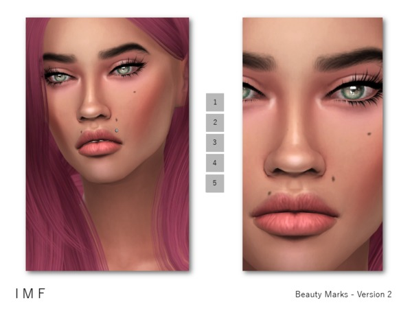 Sims 4 IMF Beauty Marks Version 2 F/M by IzzieMcFire at TSR