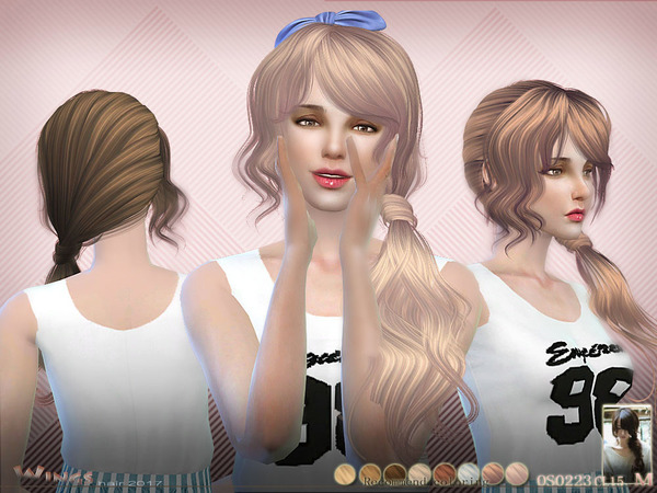 Sims 4 H OS0223 hair by wingssims at TSR