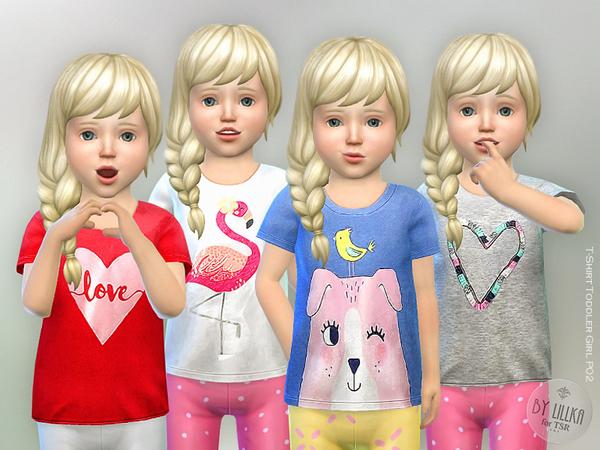 Sims 4 T Shirt Toddler Girl P02 by lillka at TSR