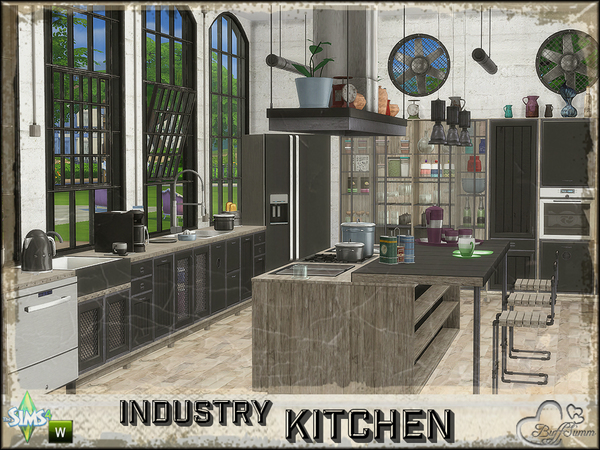 Industry Kitchen by BuffSumm at TSR image 1150 Sims 4 Updates