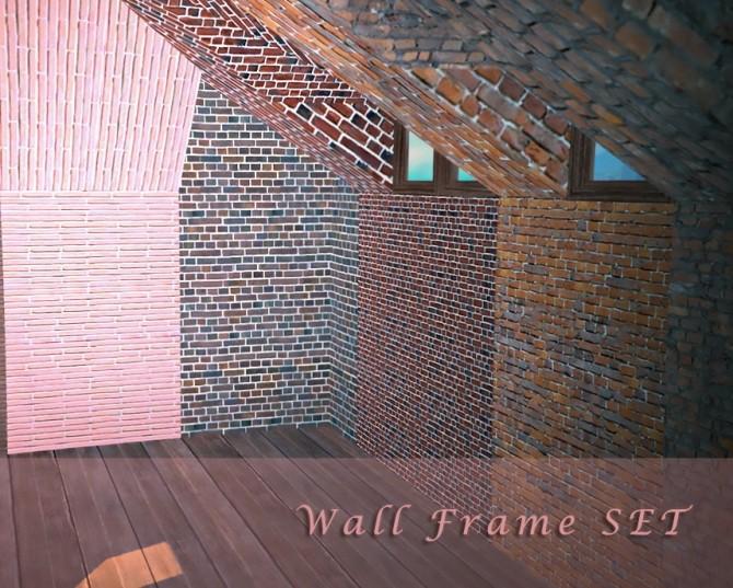 Sims 4 Wall Frame + Matching Walls at YUMIA'S PLACE