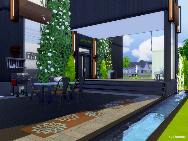 Onyx house by Lhonna at TSR image 1160 Sims 4 Updates
