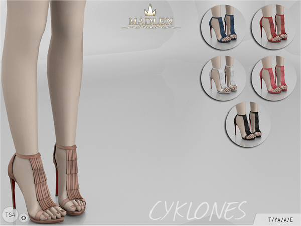 Sims 4 Madlen Cyklones Shoes by MJ95 at TSR