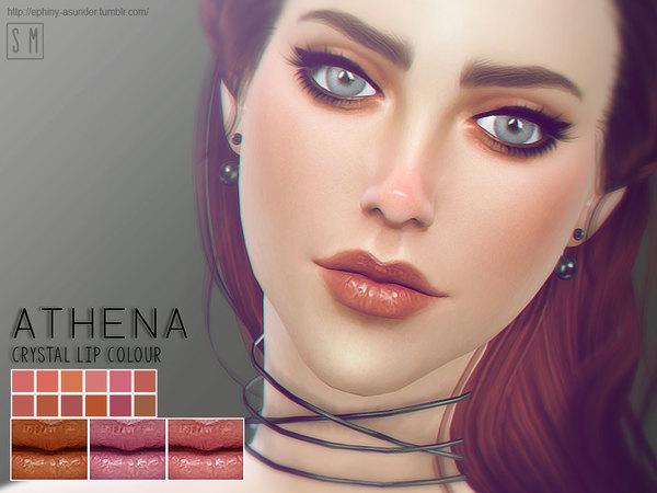 Sims 4 Athena Crystal Lip Colour by Screaming Mustard at TSR