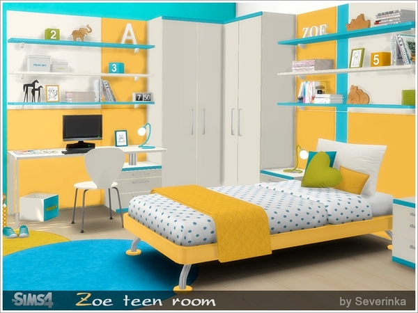 Zoe teen room furniture by Severinka at TSR image 11814 Sims 4 Updates