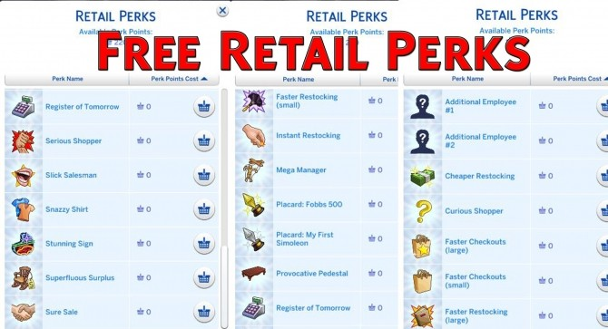 Free/Half Priced Retail Perks by Simstopics at SimsWorkshop image 1183 670x363 Sims 4 Updates