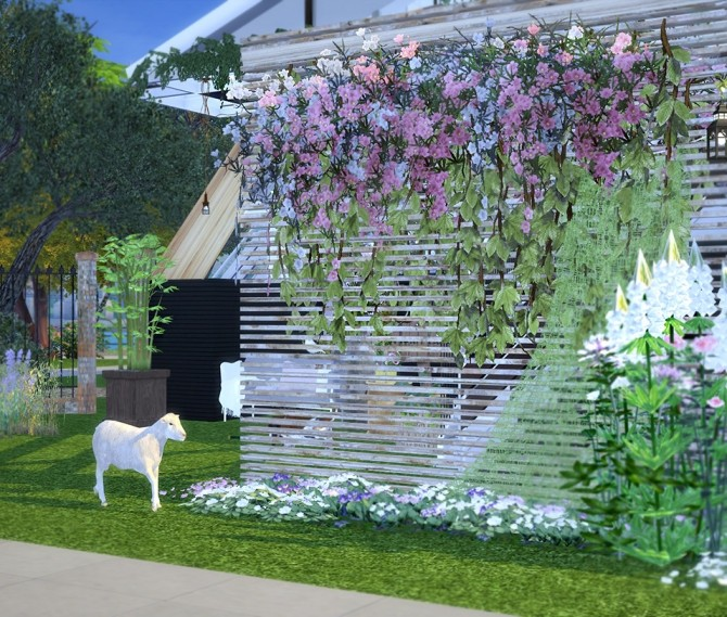 Sims 4 Eco house in the city recolors at YUMIA'S PLACE