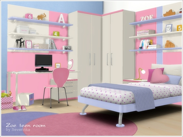 Zoe teen room furniture by Severinka at TSR image 11914 Sims 4 Updates