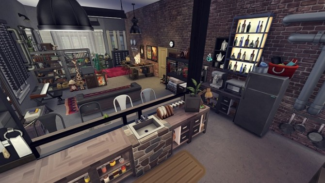Apartment R003 by Bangsain at My Sims House image 1206 670x379 Sims 4 Updates
